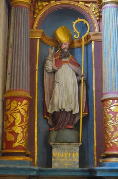 Statue: saint Latuin, vue générale