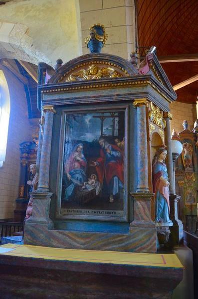 Retable du pilier nord, tableau : L'Adoration des bergers, vue générale
