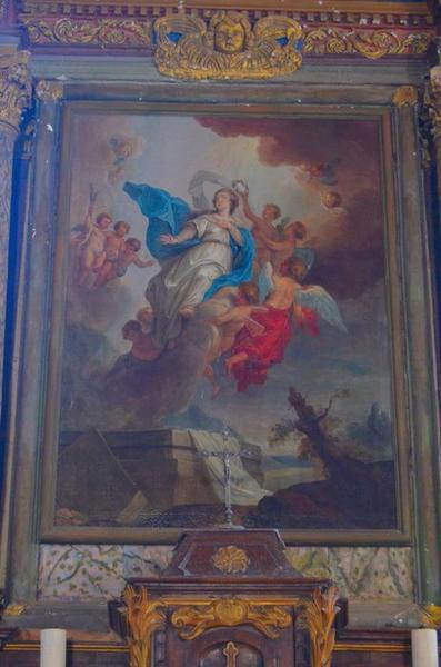 Tableau du retable du maître-autel: Assomption (l') vue générale