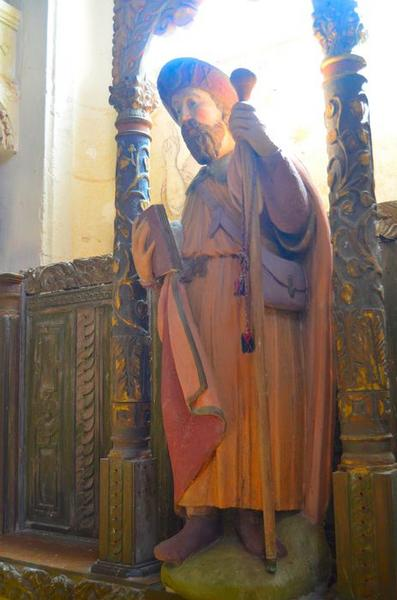 Statue: saint Jacques, vue générale