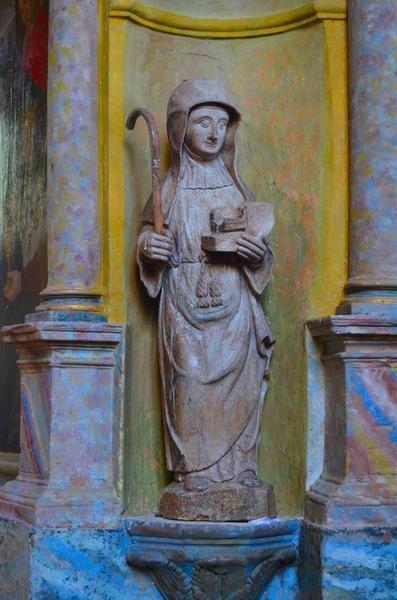 Statue: sainte Opportune, vue générale