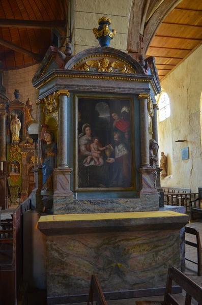 Retable du pilier sud, tableau : L'Adoration des Mages, vue générale