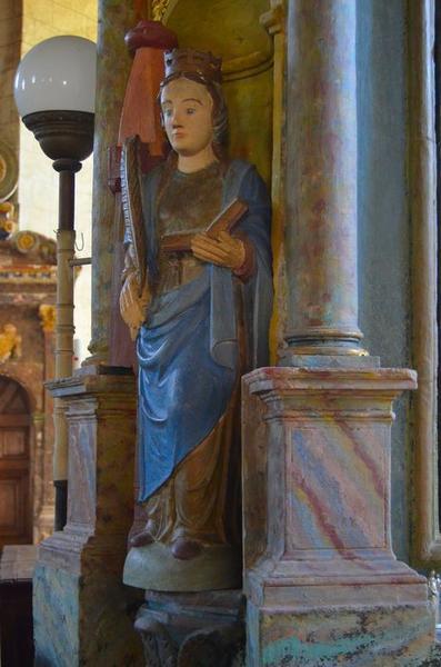 Statue: sainte Barbe, vue générale