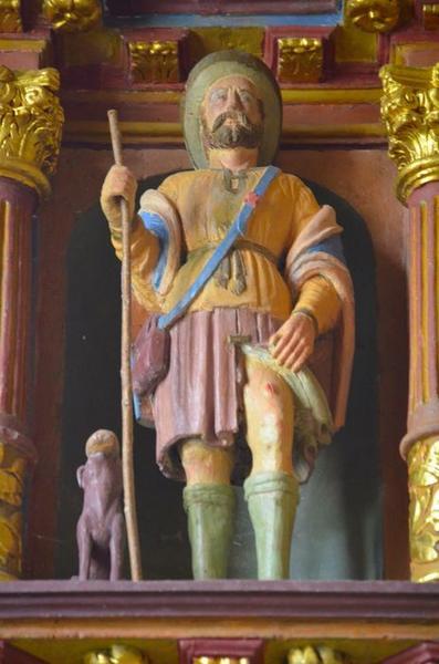 Statue: saint Roch, vue générale