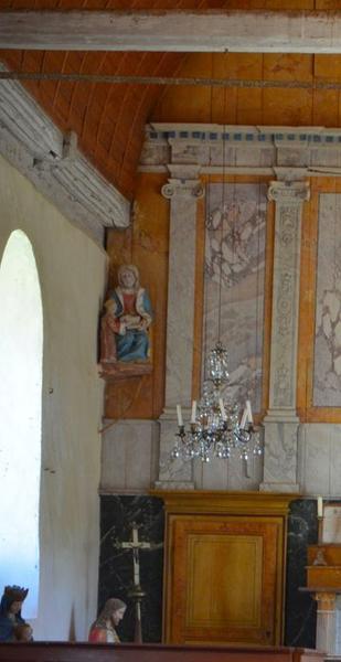 Groupe sculpté: Education de la Vierge (l'), vue générale