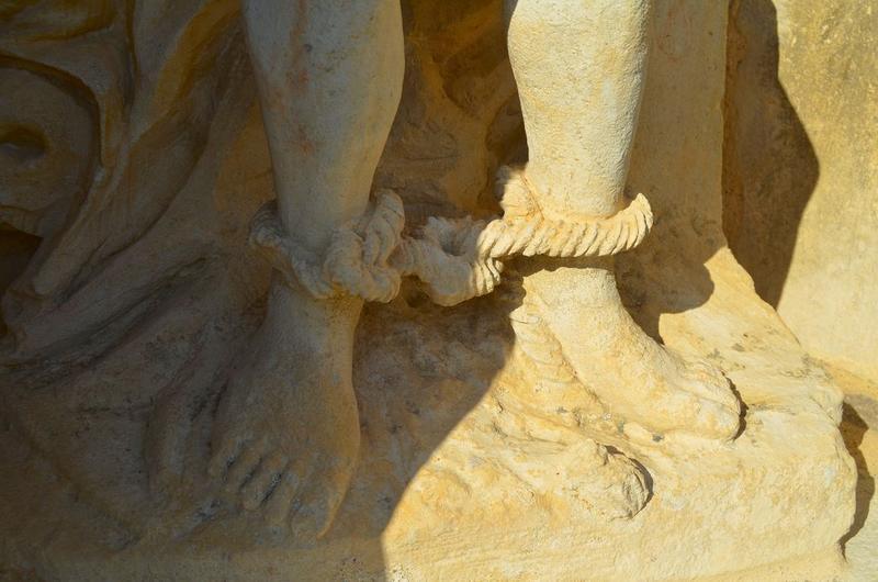 Statue : Christ de Pitié, détail
