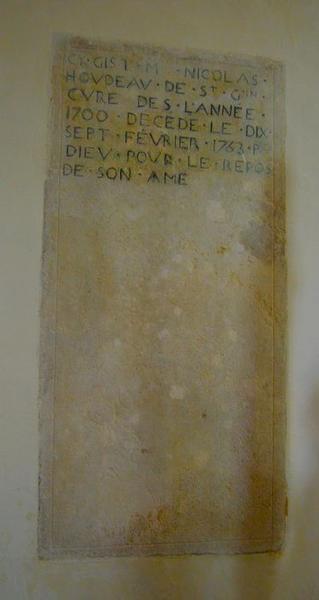 Dalle funéraire de Nicolas Houdeau, vue générale