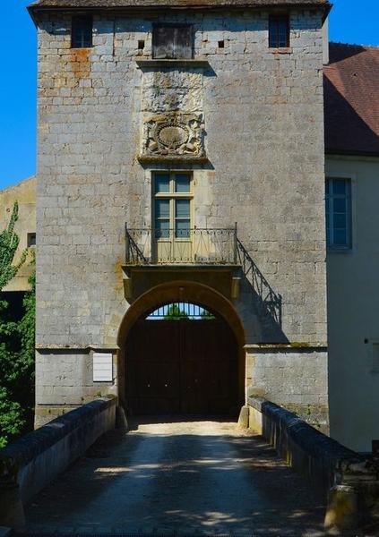 Tour d'accès à la cour intérieure, élévation est, vue partielle