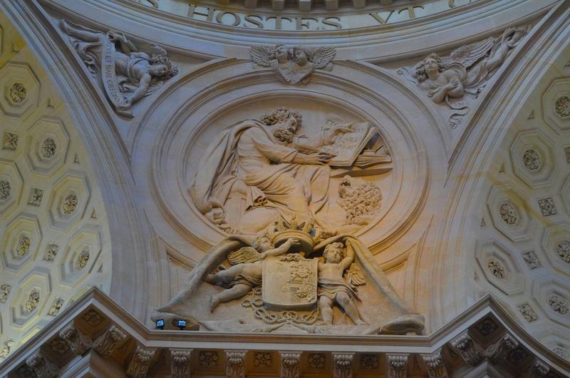 Église, choeur, détail, bas-relief: saint Marc