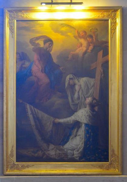 Tableau: La France appuyée sur la Religion consacre à Notre-Dame-des-Gloires des drapeaux pris à l'ennemi, vue générale