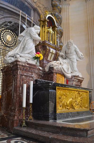 Maître-autel, groupe sculpté: Nativité (la), vue générale