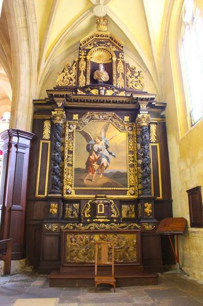retable (autel secondaire dit de l'Ange gardien), vue générale