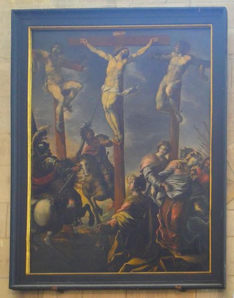 Tableau : Christ entre les deux larrons (Le)