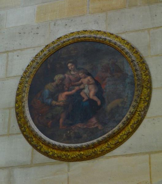 Tableau : Sainte-Famille, sainte Elisabeth et saint Jean-Baptiste enfant (La)