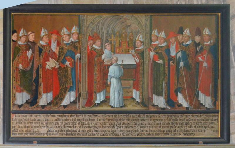 tableau: Consécration de la cathédrale par Eugène III en 1147 (La), vue générale