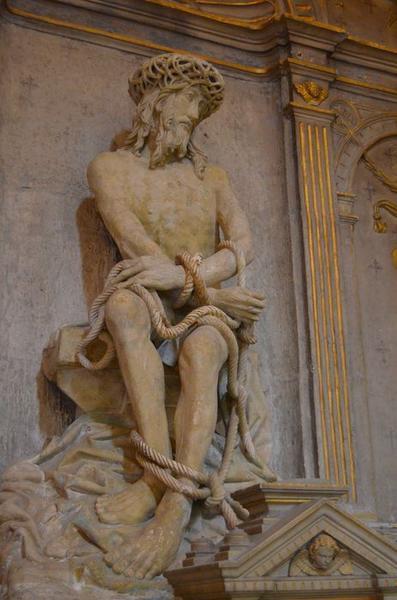 Tableau : Ecce Homo, entre deux donateurs