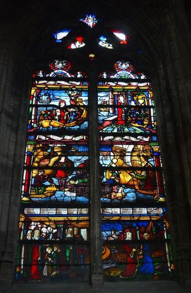 Verrière : Scènes de la vie de sainte Madeleine
