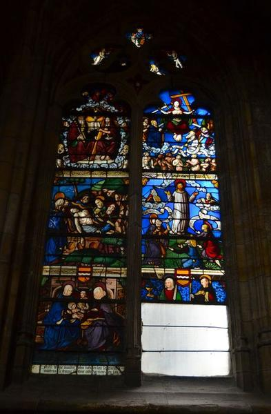 Verrière : Scènes diverses relatives au Christ