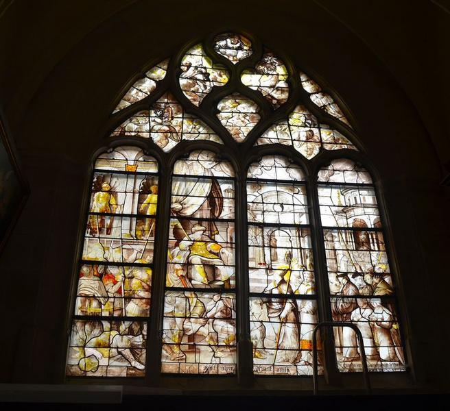 Verrière : Saint Alpin devant Attila