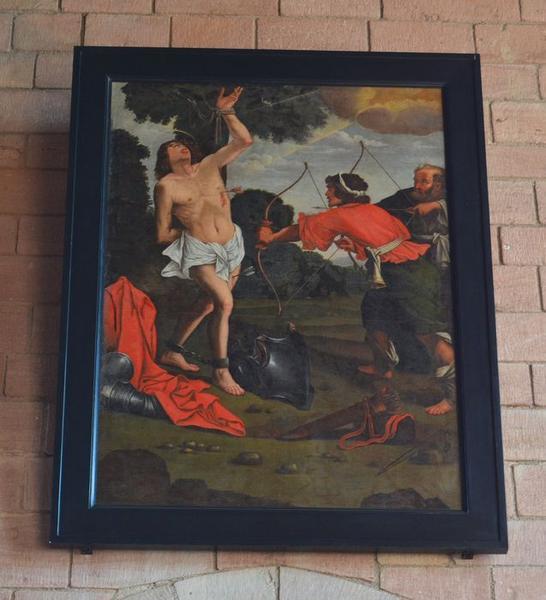 tableau : martyre de saint Sébastien (le), vue générale