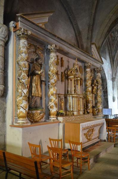 ensemble de l'autel Nord (autel, tabernacle), vue générale