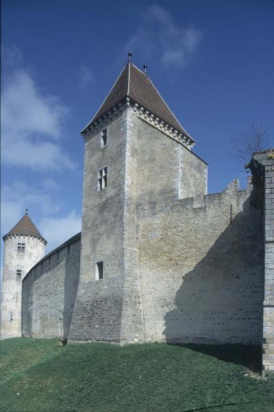 La tour carrée et les courtines