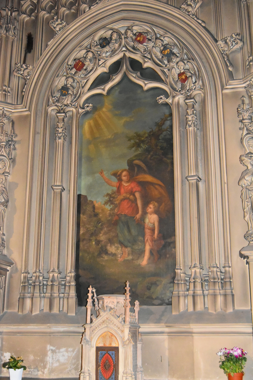 tableau : L'Ange gardien (maître-autel)
