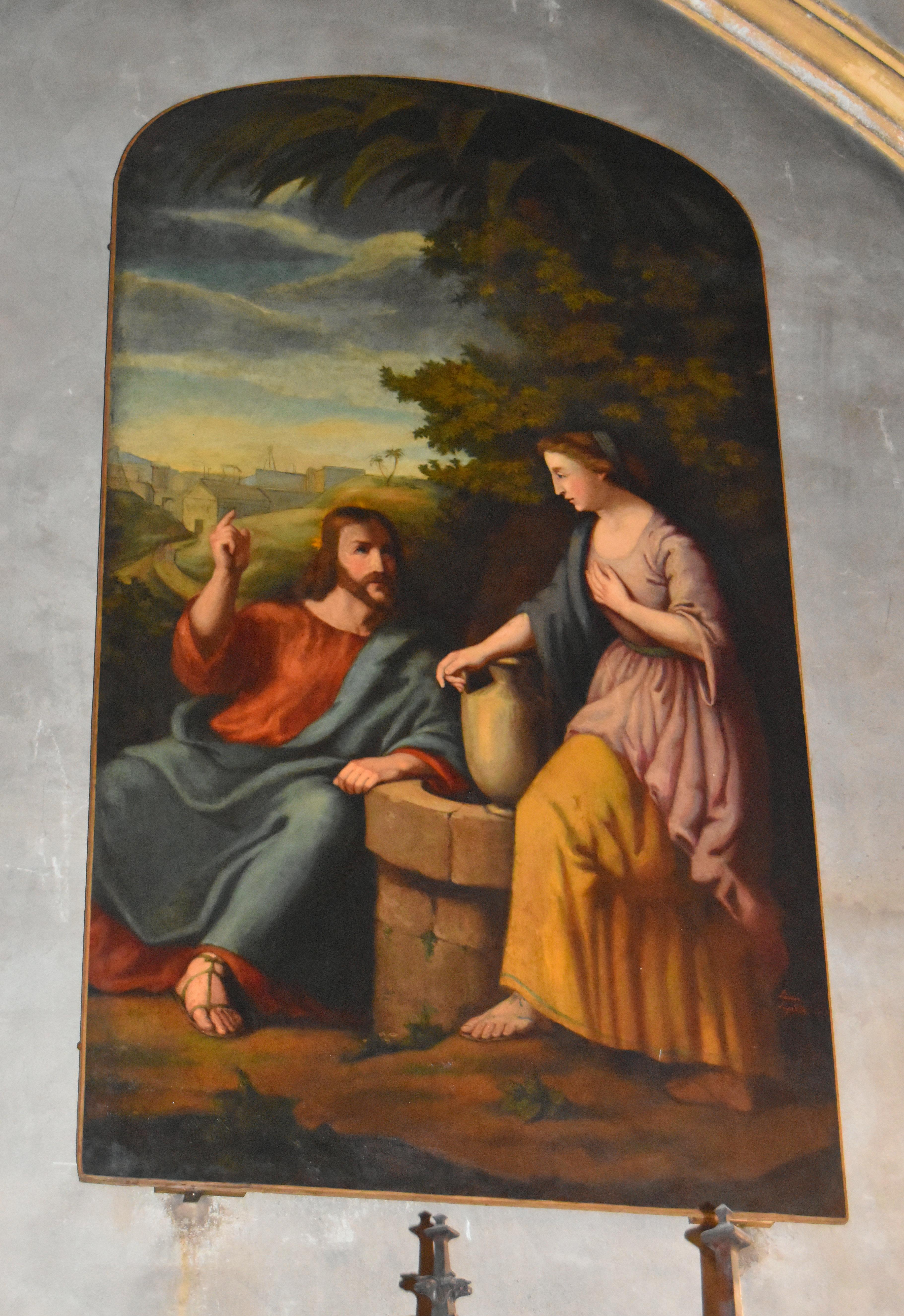Tableau : Christ et la Samaritaine