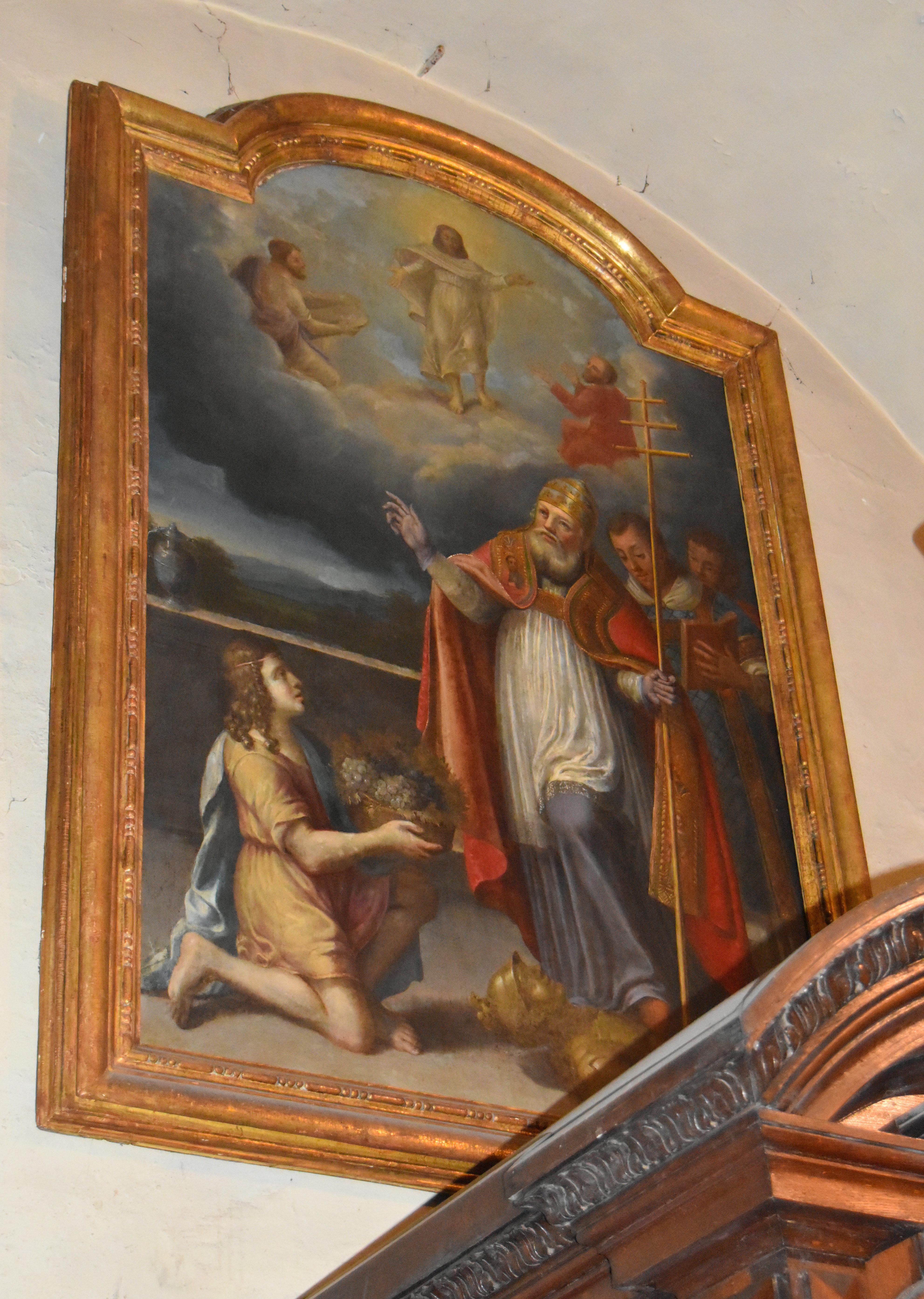 Tableau : Pape bénissant un enfant