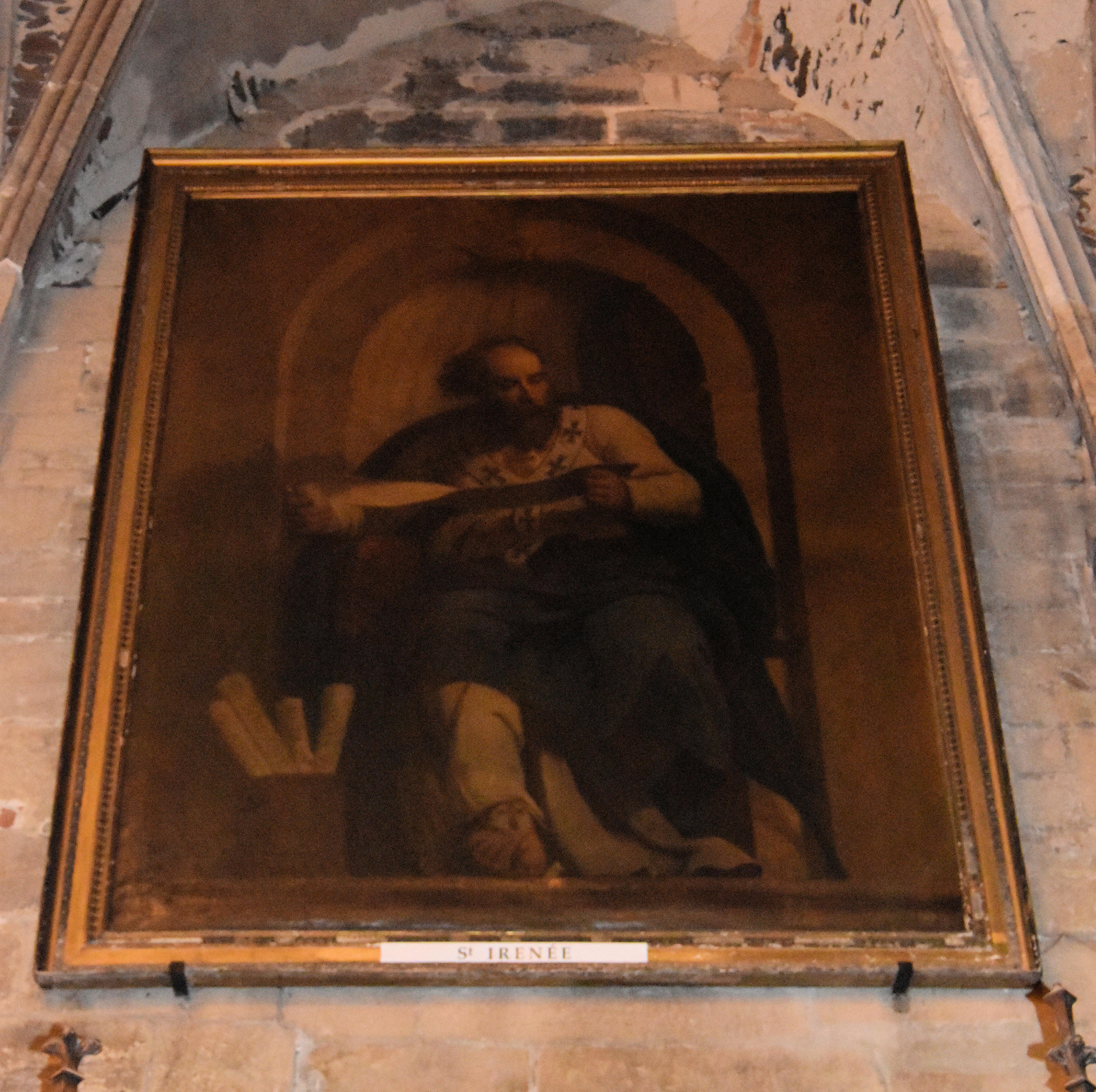 tableau et son cadre : saint Irénée