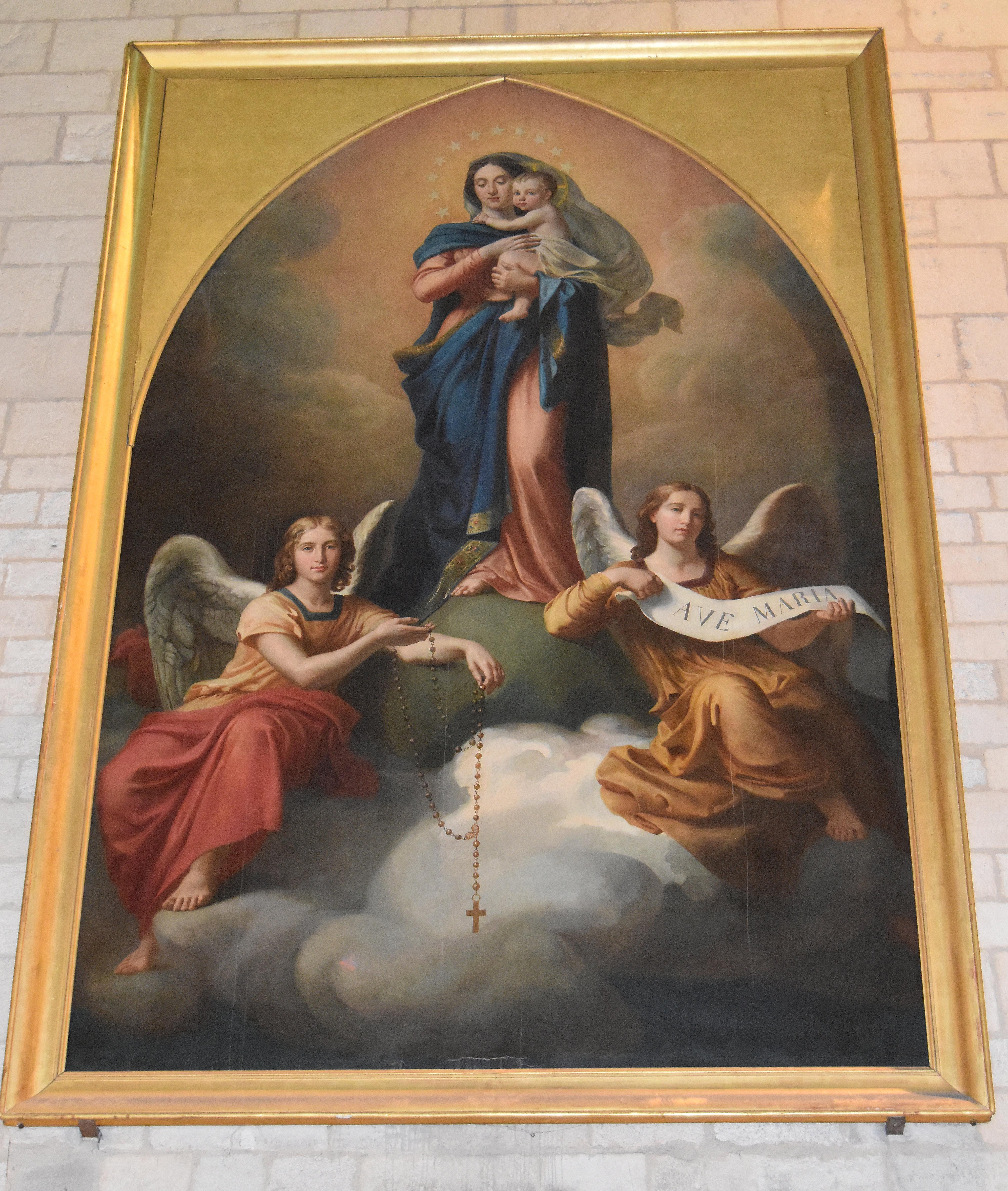 Tableau : La Vierge à l'Enfant et les anges