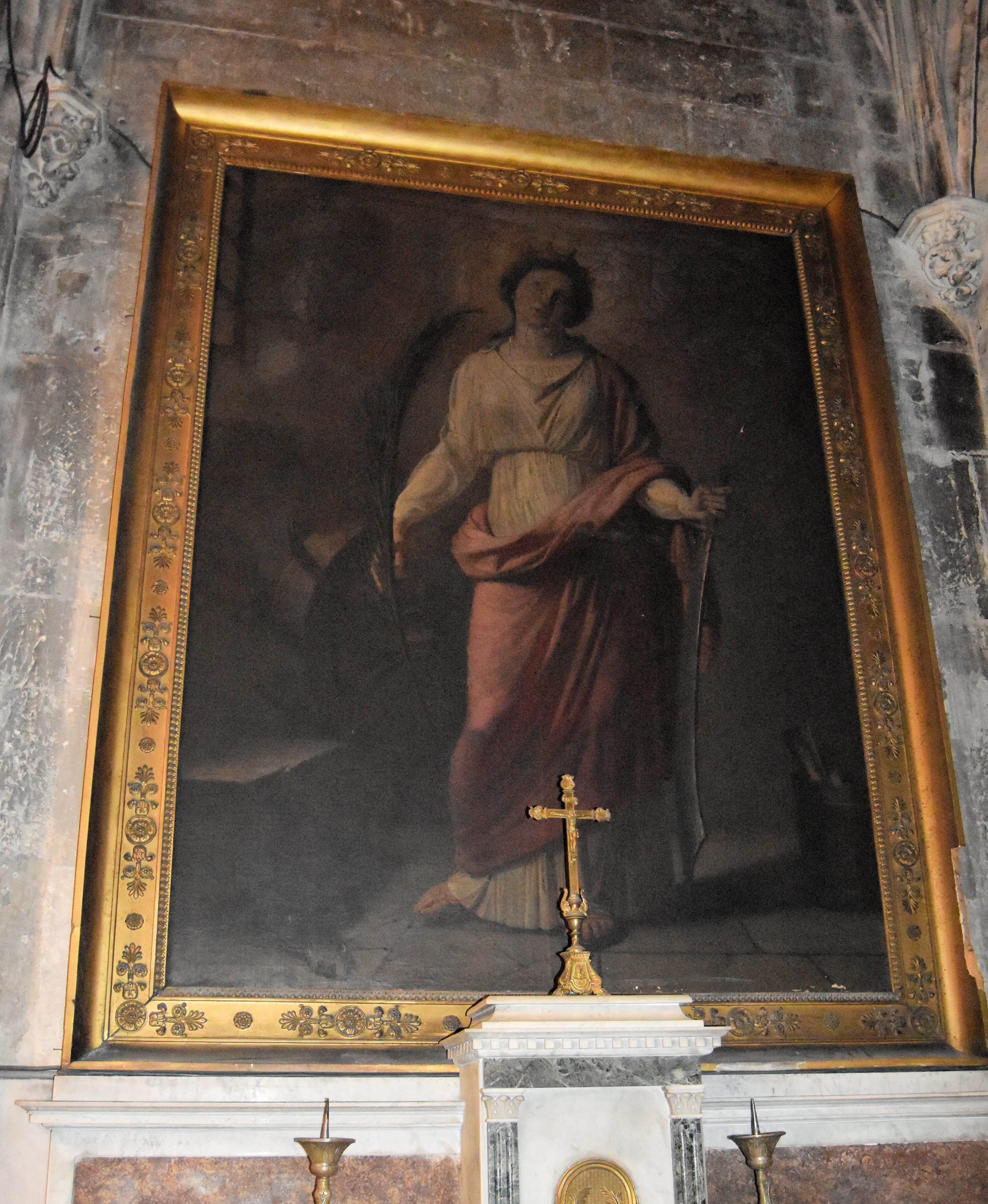 Tableau : Sainte Catherine, cadre