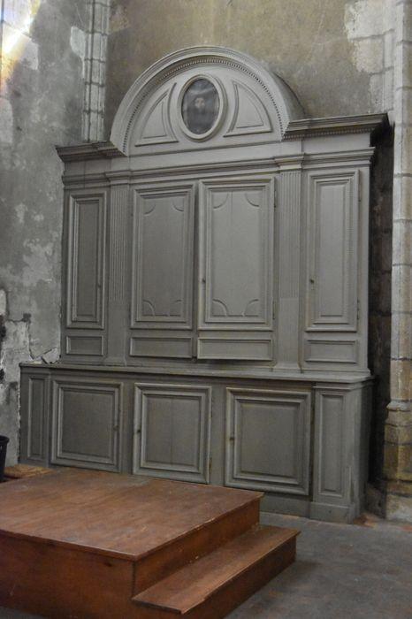 Lambris de revêtement (boiseries) avec tableau (médaillon) : Sainte Face