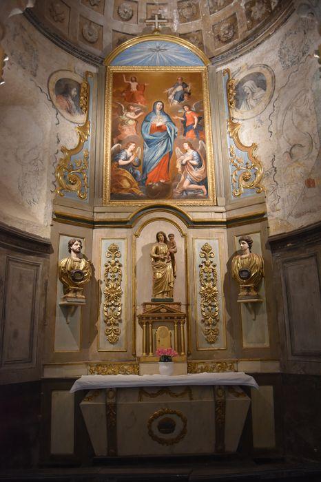 Retable de la chapelle de la Vierge et tableau