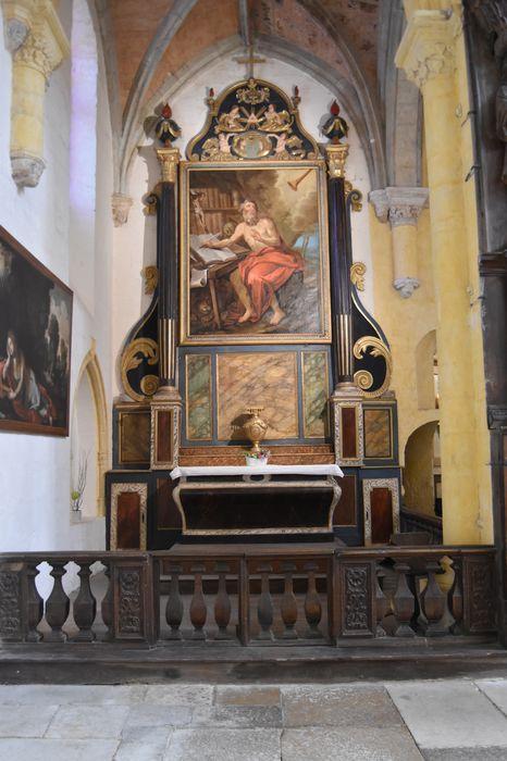 Retable de la chapelle Saint-Jérôme et son tableau : Saint Jérôme à l'étude