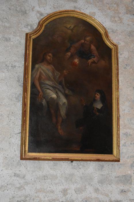 Tableau : Madame de Chantal en prière devant le Sacré-Coeur, vue générale