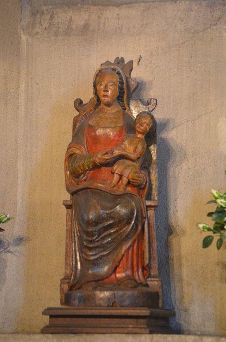statue (statuette) : Vierge à l'Enfant, vue  générale