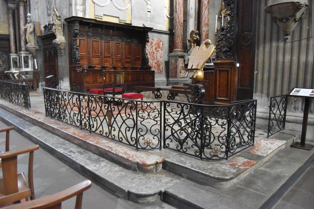 clôture de choeur (table de communion), vue générale