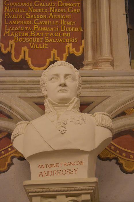buste : Antoine François Andreossy, vue générale