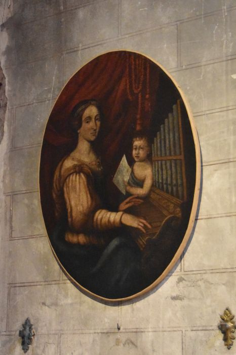 Tableau : Sainte Cécile jouant de l'orgue