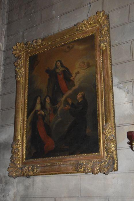 Tableau et son cadre : Glorification de Jeanne de France
