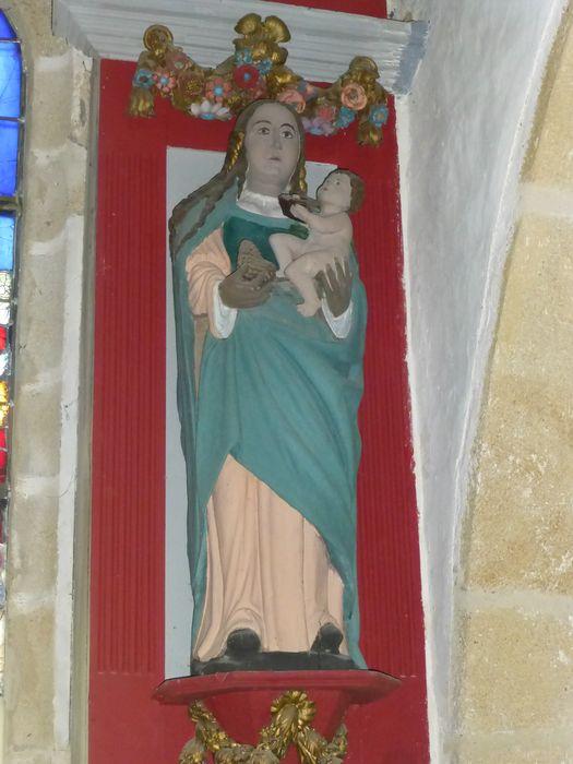 Statue ; niche : Vierge à l'Enfant, vue générale