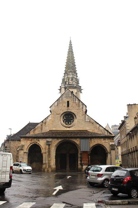 Eglise Saint-Philibert (ancienne): Façade occidentale, vue générale