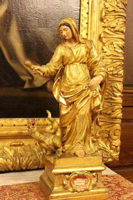 Statue-reliquaire de sainte Marthe
