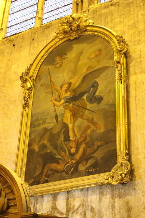 Tableau et son cadre : Saint Michel