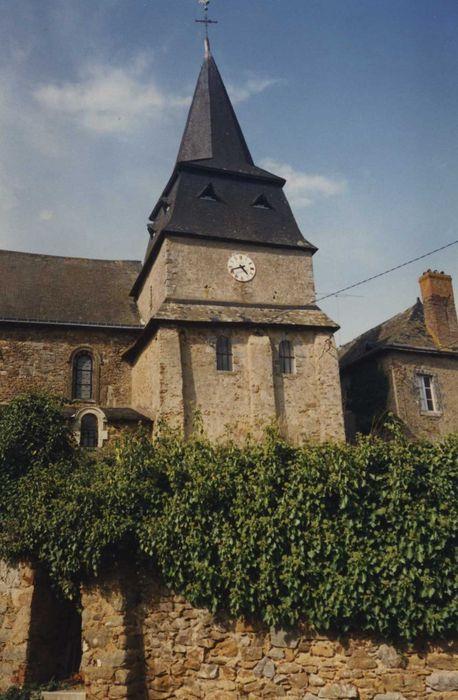 Eglise succursale de Molières: Clocher, élévation sud, vue générale