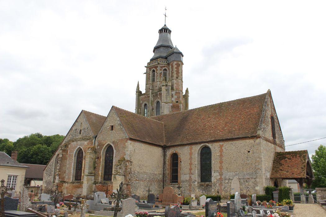 EgliseSaint-Clair : Façade latérale nord, vue générale