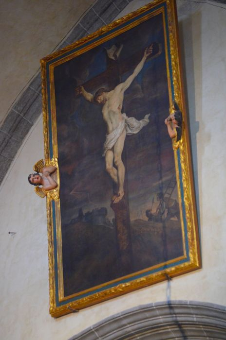 Tableau et son cadre : Christ en croix