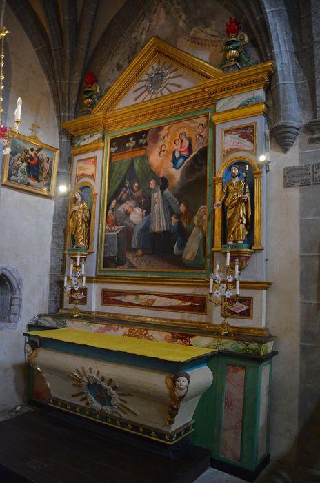 retable dit de la Bonne-Mort, tableau, statues: Sainte Philomène, saint Joseph