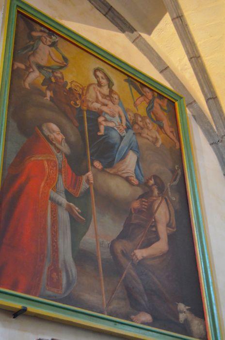 tableau, cadre: Sainte Vierge avec saint Jean-Baptiste et saint Philippe Neri?